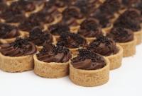 Panelinha de ganache com crispies de chocolate