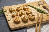 Panelinhas de cream cheese e parma (24 UNID.)
